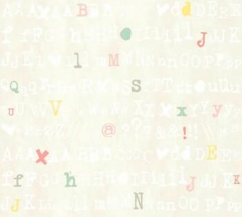 Grau-Beige Buchstaben Zeichen Tapete