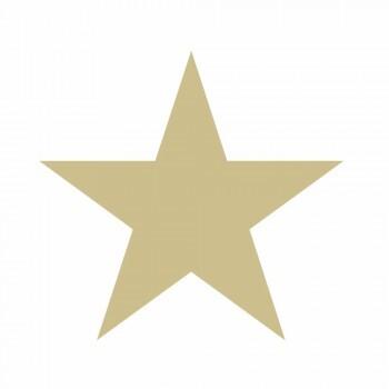 Tapete Große Sterne Gold