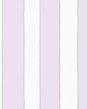 Streifen Lila Weiß Vliestapete