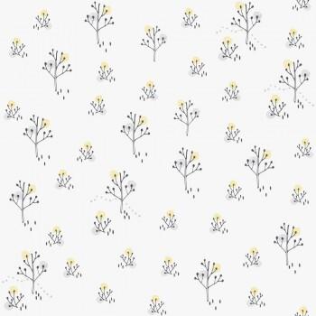 Weiß Tapete Weidenkätzchen