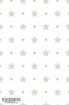 Sterne Taupe Gold Kindertapete