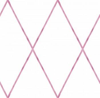Tapete Papier Weiß Pinke Rauten Ohlala 335712