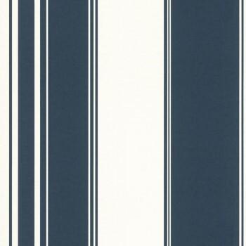 Vliestapete Blau Streifen