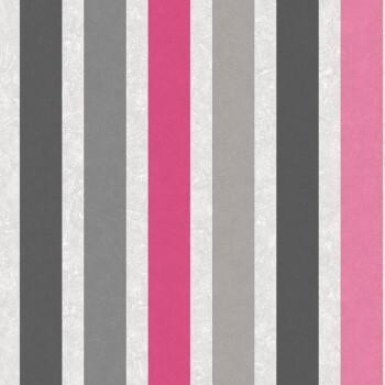 Vliestapete Streifen Pink