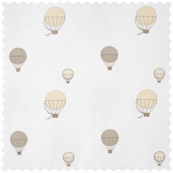 Dekostoff Heißluftballons beige