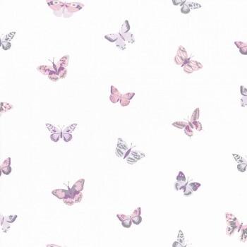 Tapete Lila Schmetterlinge