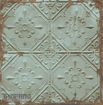 Rasch Textil Reclaimed 23-022331 Muster Vliestapete rostig blau