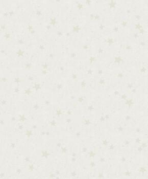 Papiertapete Weiß Sterne Und Wolken Muster