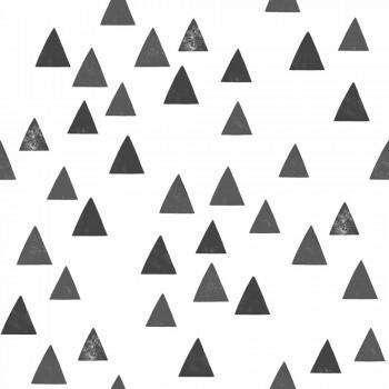 Tapete Schwarze Dreiecke