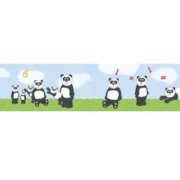 Borte Panda Rechenhilfe Grün Blau