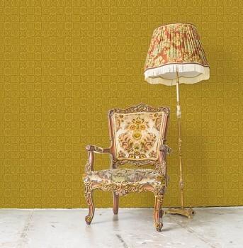 Wandbild Senf-Gelb Grafisches Muster