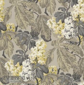 23-256511 Cassata Rasch Textil grau Blättermuster Vliestapete