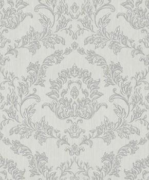 Rasch Textil Velluto 23-074931 Textiltapete grau Wohnzimmer Ornamente