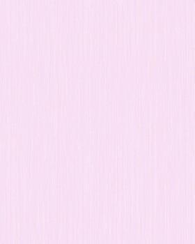 Vliestapete Hell-Rosa Streifen Uni