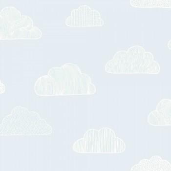 Blau Tapete Wolken