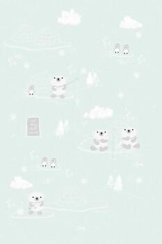 Wandbild Arktis Mint-Grün