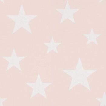 Sterne Rosa Weiß Vliestapete