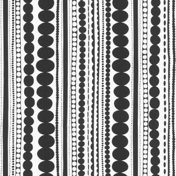 Vliestapete Schwarz-Weiß Streifen Muster