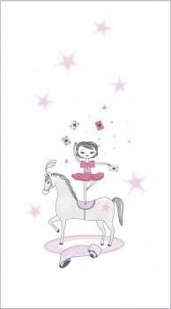 Zirkus Stoff-Paneel Rosa