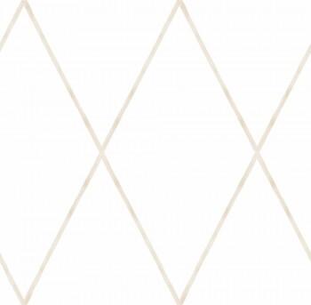 Papiertapete Beige Linien Rauten Weiß Ohlala 335730