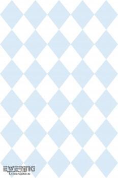 Hell-Blau Rauten Papiertapete