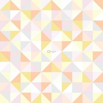 Tapete Vlies Dreiecke Orange Gelb