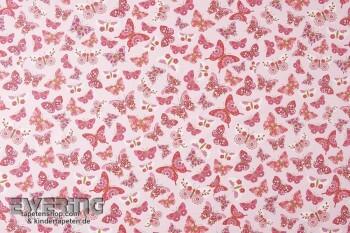 Dekostoff Rosa Schmetterling