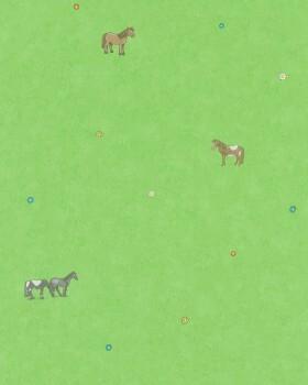 Vliestapete Pferde Grün