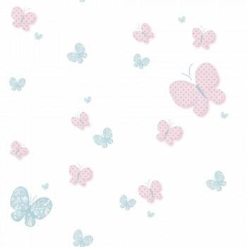 Tapete Schmetterlinge Hellblau