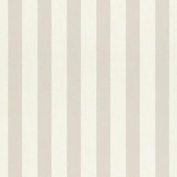 Streifentapete Beige Weiß Papier Matt