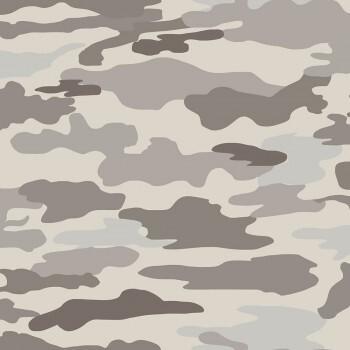 Tapete Grau-Braun Camouflage