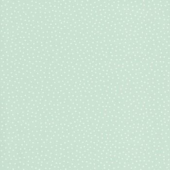 Tapete Grün Weiße Punkte