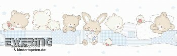 Borte Babyzimmer Tiere Hellblau