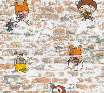 Tapete Braune Mauer Tiere