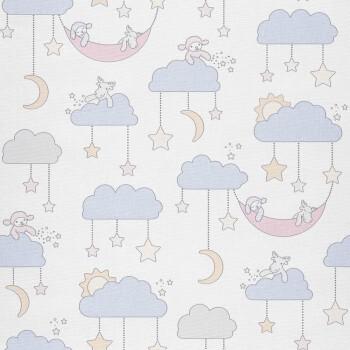 Vliestapete Wolken Blau Tapete