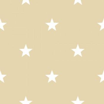 Vliestapete Creme Sterne Kinderzimmer