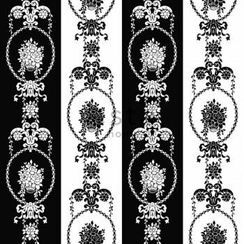 Vliestapete Barock Schwarz Weiß