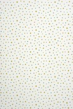 Sterne Grünblau Papiertapete