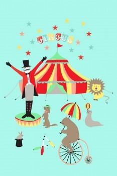 Zirkus-Manege Wandbild Xl