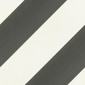 Schräge Streifen Tapete Schwarz Weiß