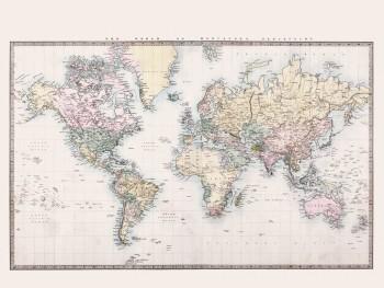 Weltkarte Wandbild Xl