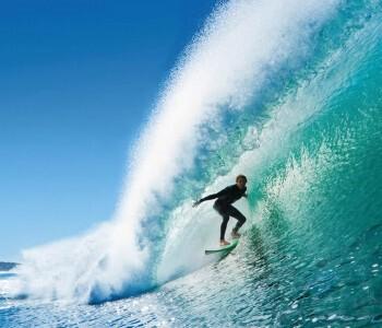Surfer Fototapete Welle