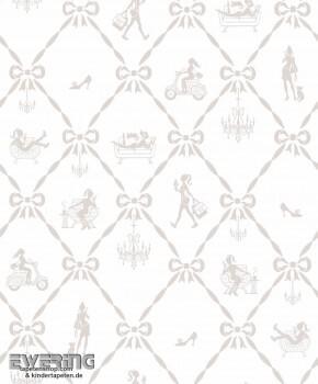 Creme Mode-Muster Tapete