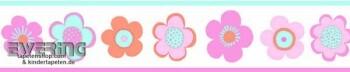 Wandbild-Borte Blumen