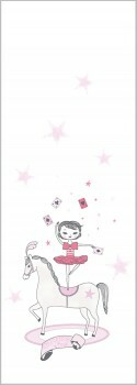 Wandbild Mädchen Rosa Zirkus