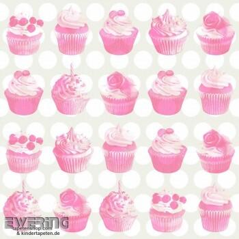 Creme Cupcakes Vlies