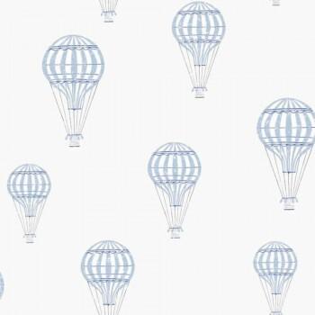 Ballon Tapete Blau