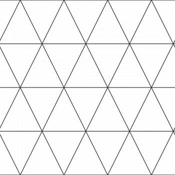 Tapete Schwarz Weiß Dreiecke Grafisch