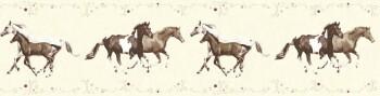 Borte beige Vlies Pferde