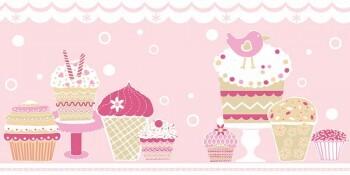 Borte Mädchen Cupcakes Pink Vlies